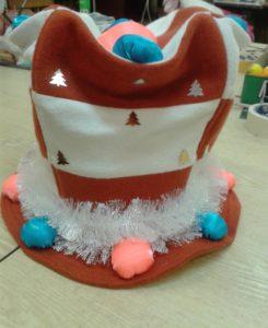 Украшение шляпы Снеговика.