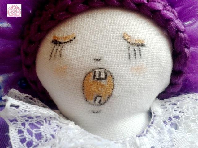 Роспись лица текстильной куклы Воскресенье.
