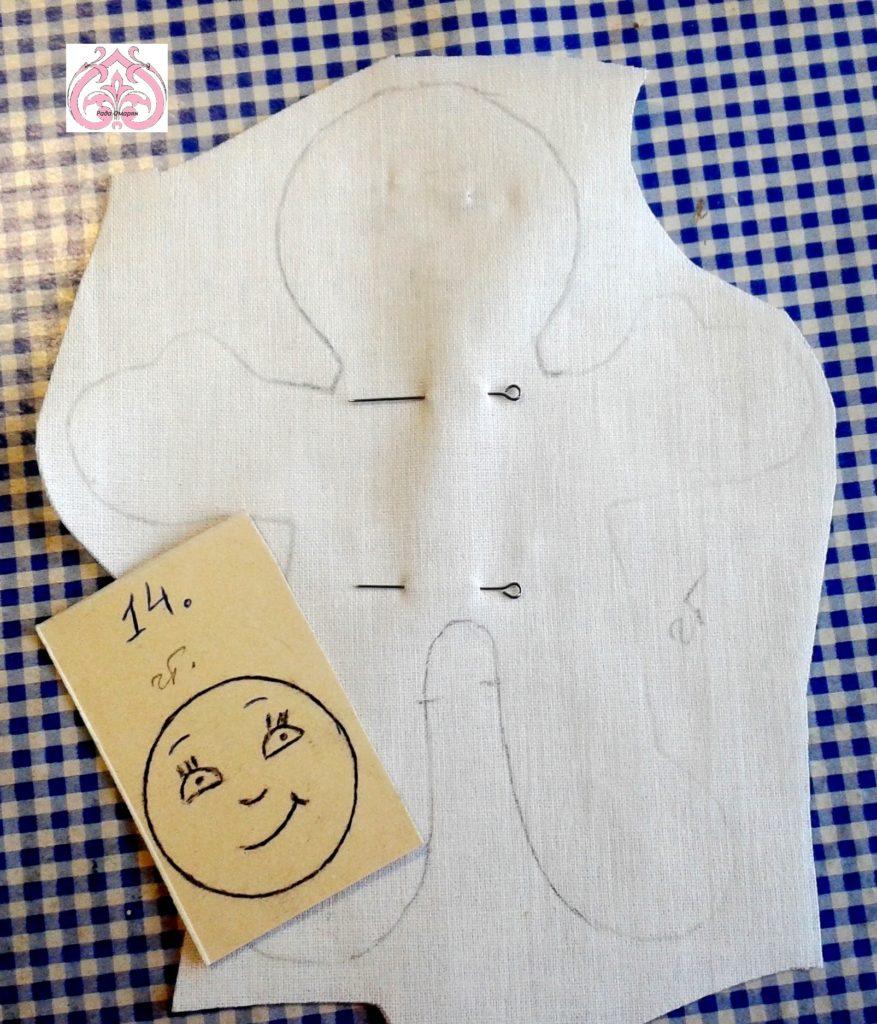 Шаблон лица. куколка Четверг.