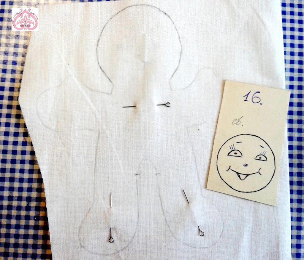 Шаблон лица куклы Суббота.