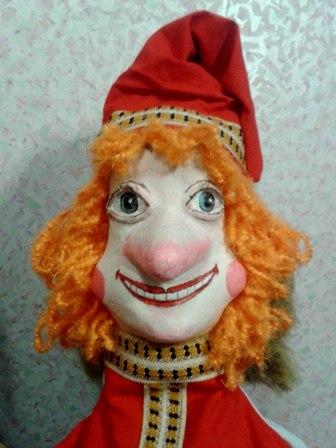 Театральная кукла папье - маше.