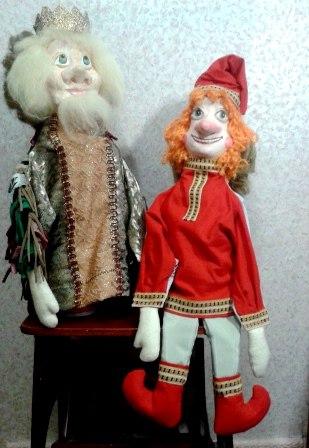 Куклы театральные двуликие.